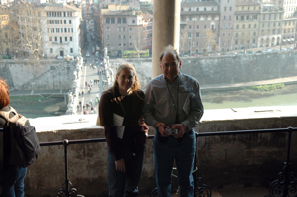 Cheryl and Stan at Castel Sant'Angelo.