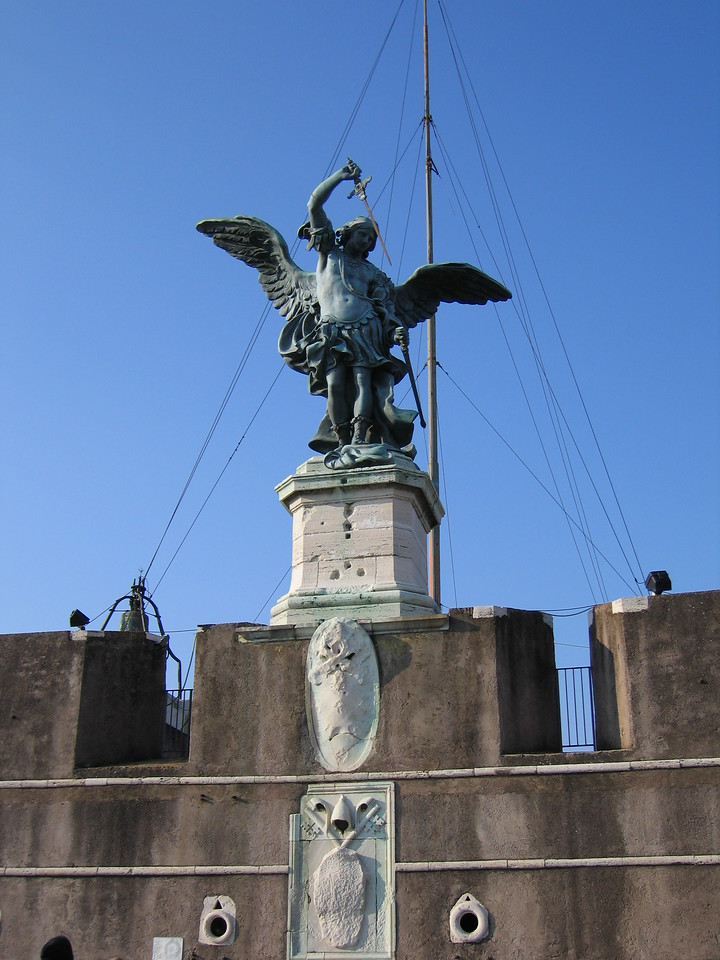Sculpture atop the Castel Sant'Angelo.