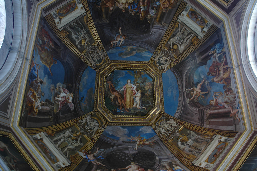 Ceiling painting in the Vatican museum.