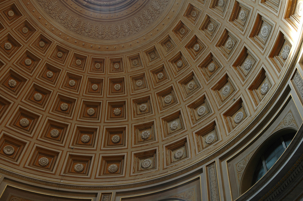 Ceiling inside the Vatican museum.