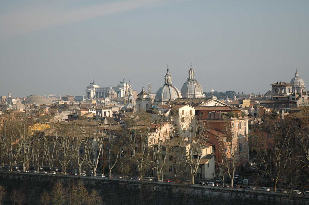 Rome skyline from Castel Sant'Angelo.