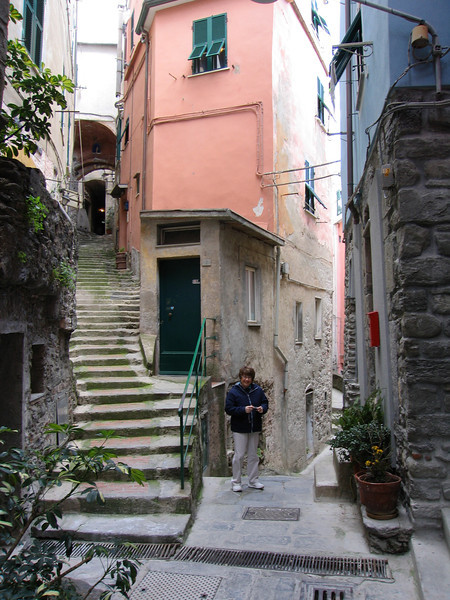 Pat on the streets in Cinque Terre