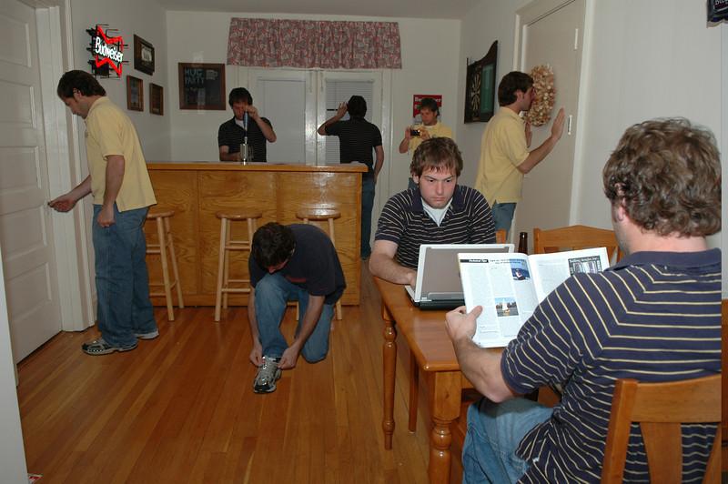 composite of Jon Deutsch in the Boulevard Apartment