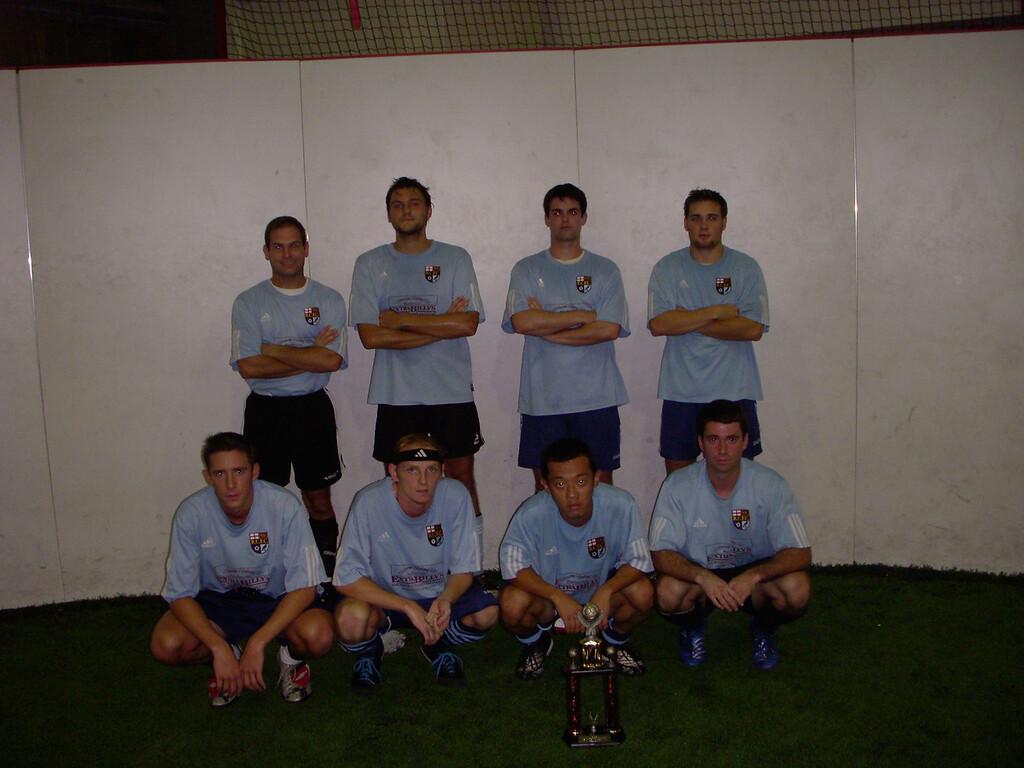 10/16/2007 - Richmond City FC Indoor at RISE - back-to-back-to-back division champions. Scott, Jon Deutsch, Daryl Grove, Shaun Peace, Sam Na, Dave, Justin Reagan.