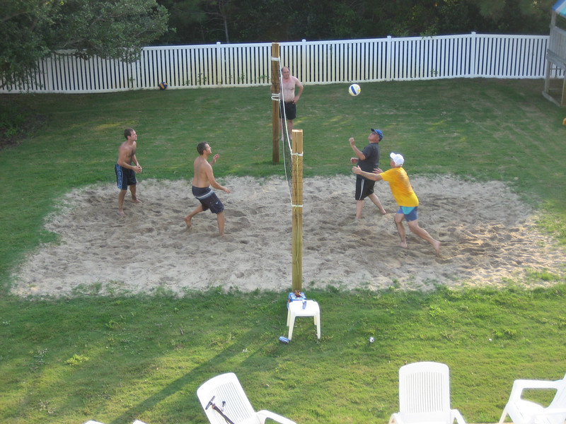 volleyball - Jon Deutsch, Matt Merrill, Mike Espinoza, Bill Merrill