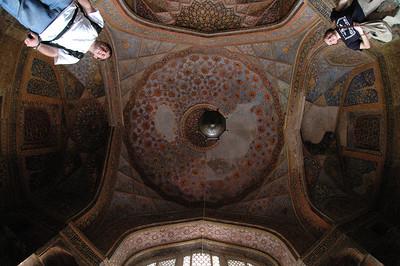 Agra: Jon Deutsch & Cheryl Deutsch inside the Tomb of Akbar.