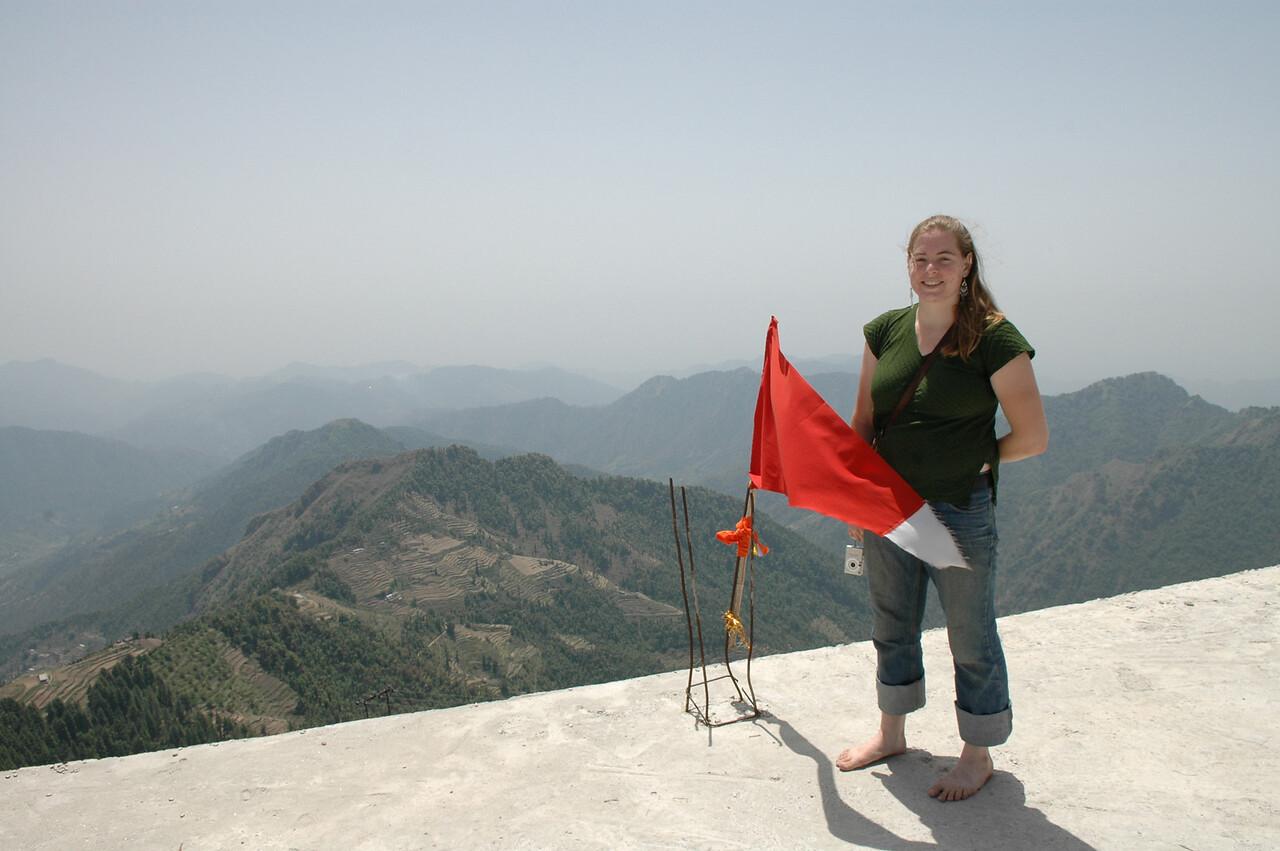 Cheryl Deutsch at a Hindu temple.