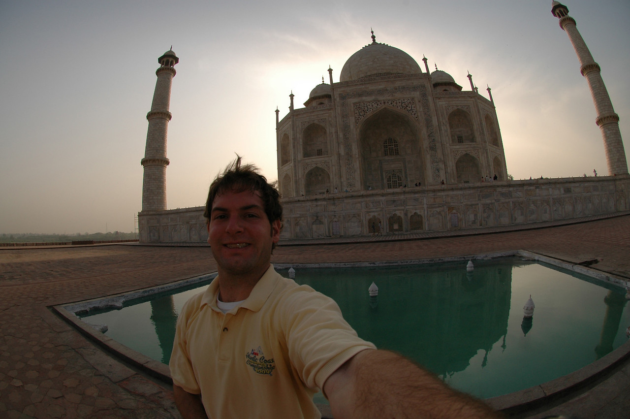 Agra: Jon Deutsch at the Taj Mahal.