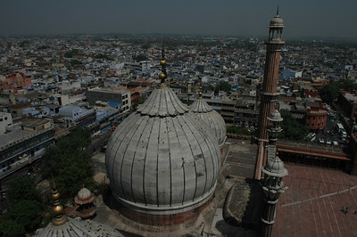 Delhi: Dome of the Jama Masjid Mosque.