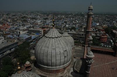 Delhi: Dome of the Jama Masjid Mosque.