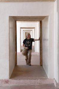 Agra: Cheryl Deutsch at the Tomb of Akbar.