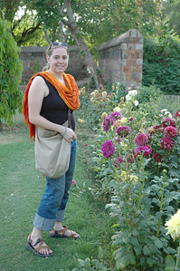 Delhi: Cheryl Deutsch in Lodi Garden.