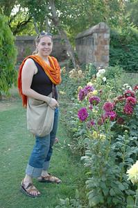 Delhi: Cheryl Deutsch in Lodi Garden.