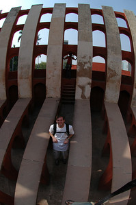Delhi: Jon Deutsch inside one of the solar measuring devices at Junter Munter.