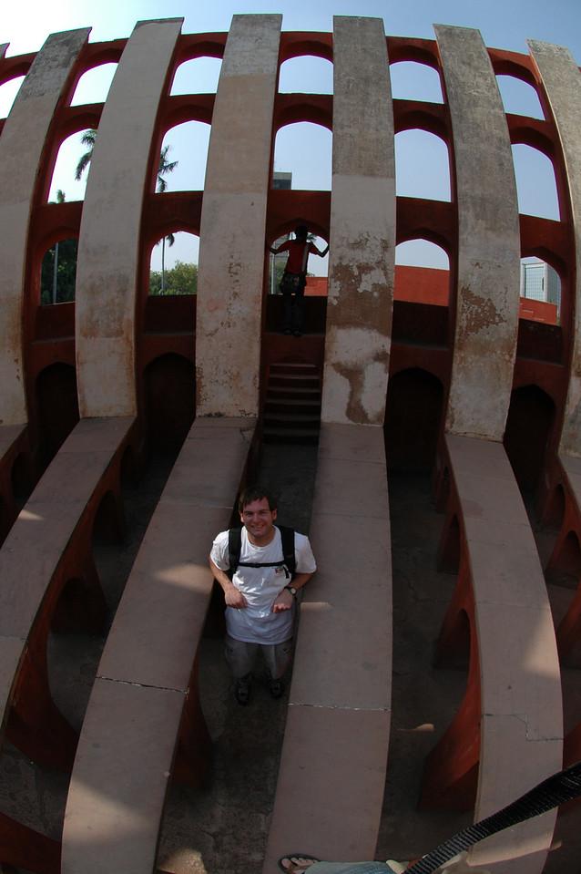 Delhi: Jon Deutsch inside one of the solar measuring devices at Junter Munter.