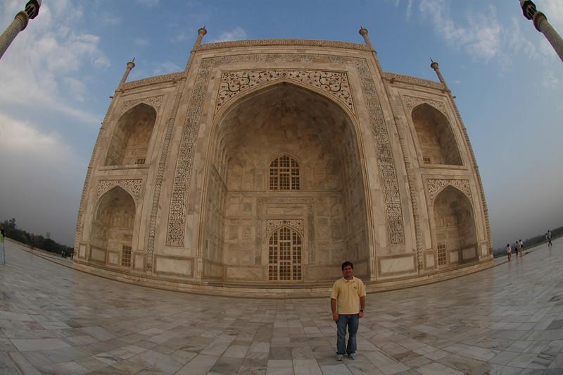 Agra: Jon Deutsch at the Taj Mahal.