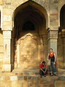 Delhi: Amar & Cheryl Deutsch at Lodi Garden.