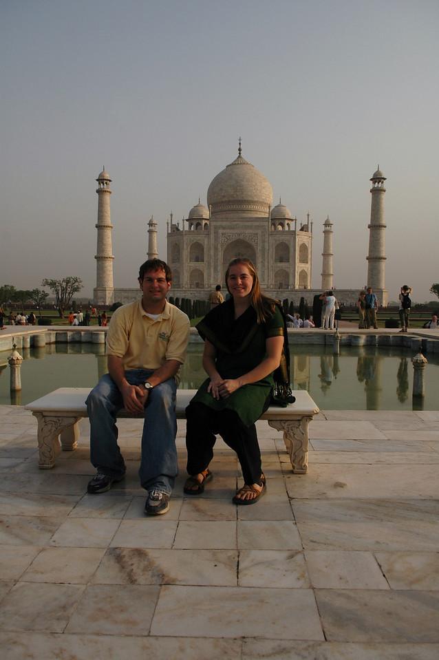 Agra: Jon Deutsch & Cheryl Deutsch at the Taj Mahal.