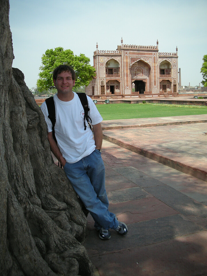 Agra: Jon Deutsch at the Tomb of Itmad-ud-Daulah.