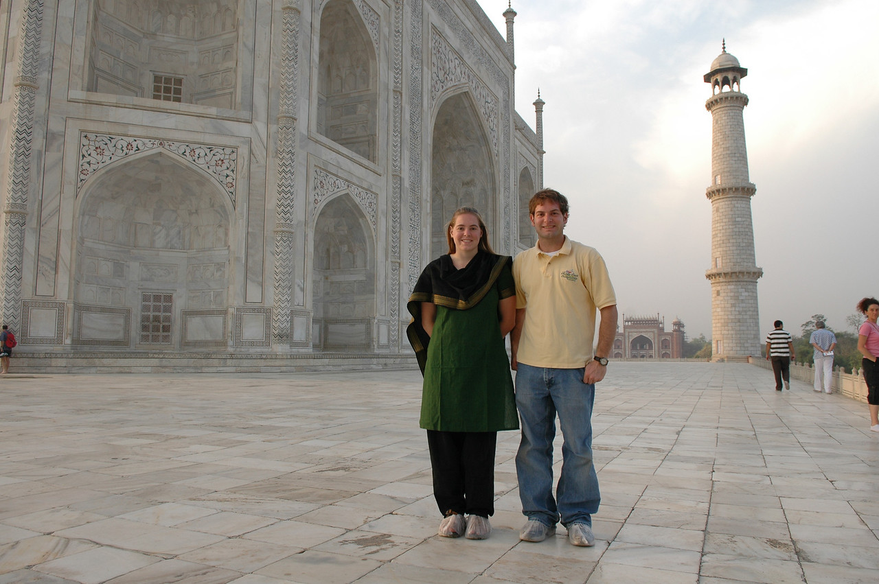 Agra: Cheryl & Jon at the Taj Mahal.