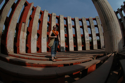 Delhi: Cheryl Deutsch inside one of the solar measuring devices at Junter Munter.