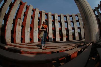 Delhi: Cheryl Deutsch inside one of the solar measuring devices at Junter Munter.