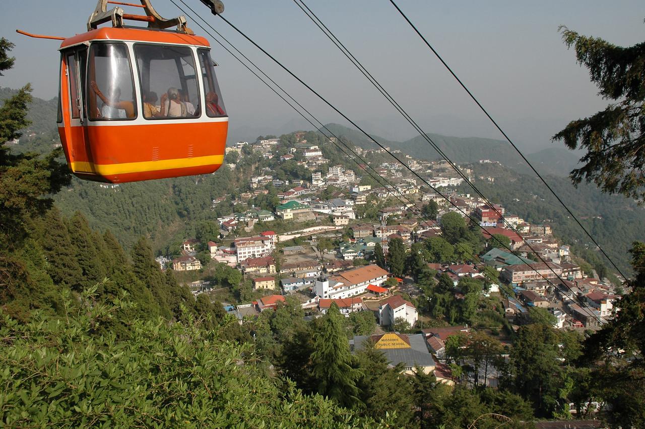 Mussoorie: View from atop Gun Hill.