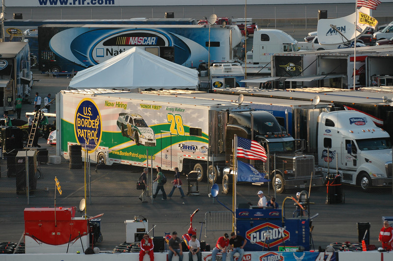 One of the cars in the Nationwide race was sponsored by the US Border Patrol