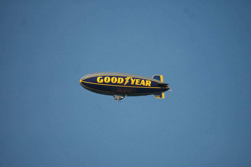 Goodyear Blimp above Richmond International Raceway