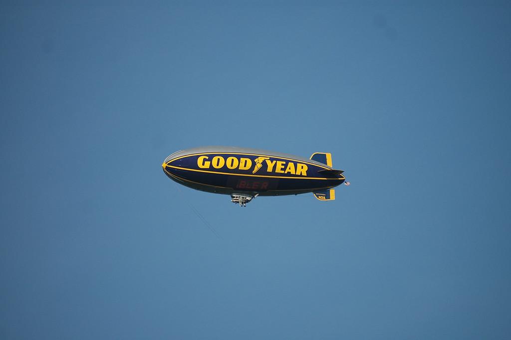 Goodyear Blimp above Richmond International Raceway