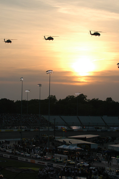 Helicopter fly-over