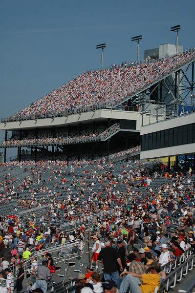 Commonwealth grandstand at Richmond International Raceway taken from turn 4.