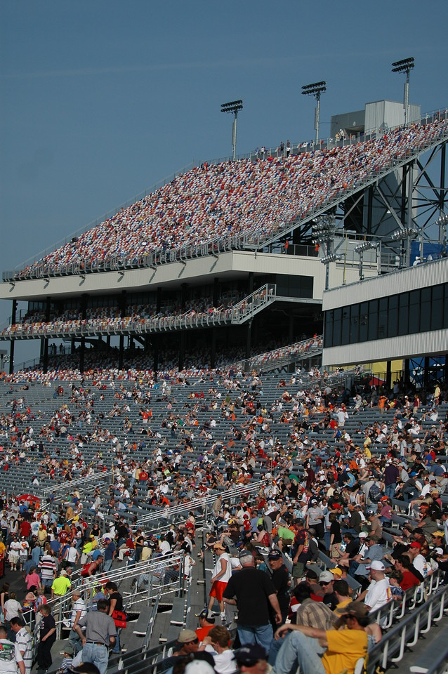 Commonwealth grandstand at Richmond International Raceway taken from turn 4.