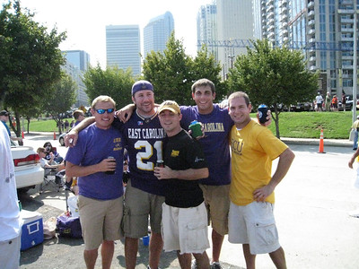 8/30/2008 ECU vs Virginia Tech in Charlotte - JG Ferguson, Preston Hubbard, Chris Webster, Tom Whatton, Jon Deutsch