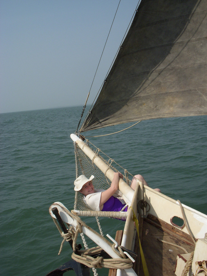 Cheryl day sailing in Cochin