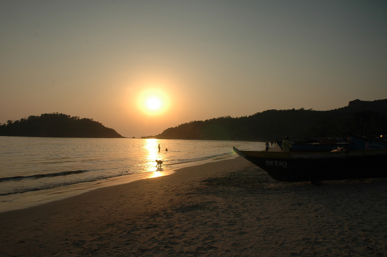 Sunset on Palolem Beach