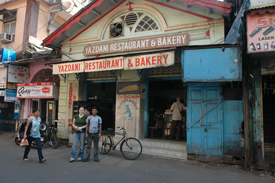 Dilip and Cheryl at the Yazdani Restaurant & Bakery