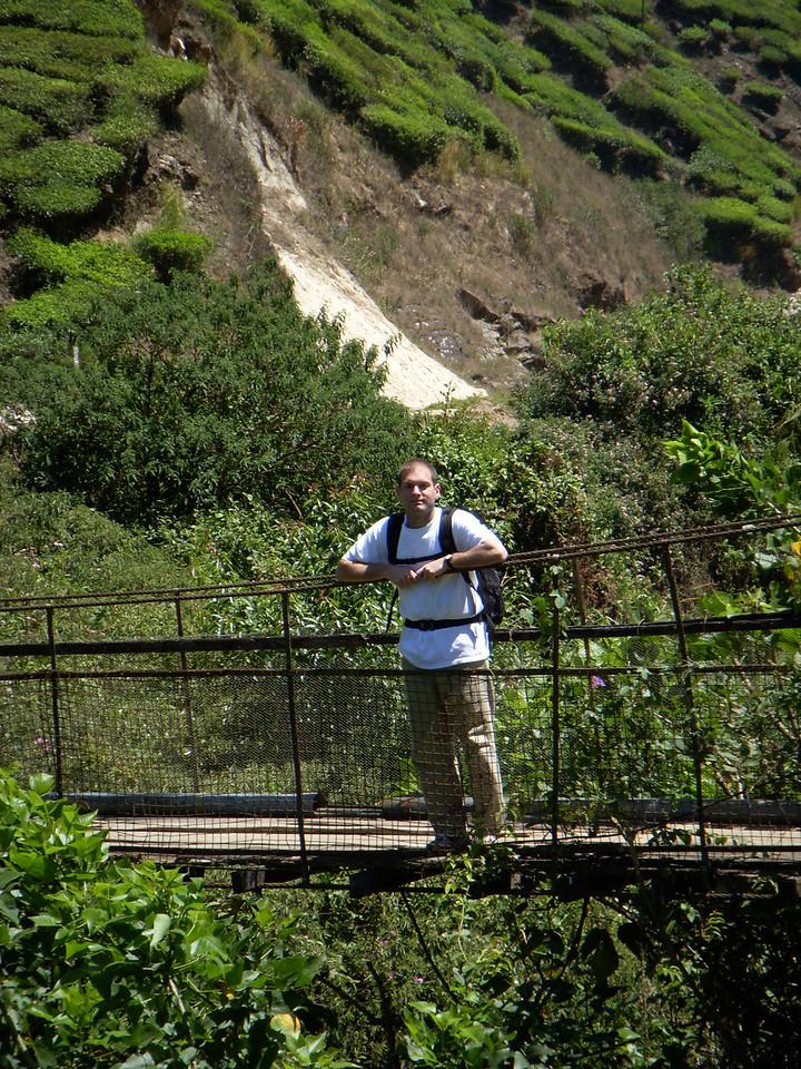 Jon on a bridge in Munnar