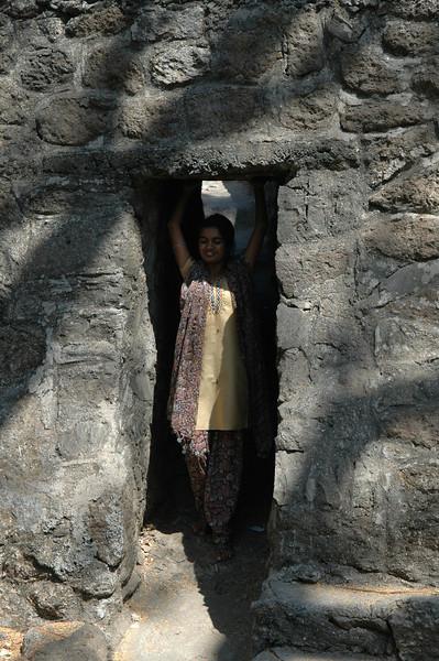 Akshata at the Kanheri Caves