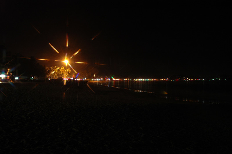 Palolem Beach at night - with star filter