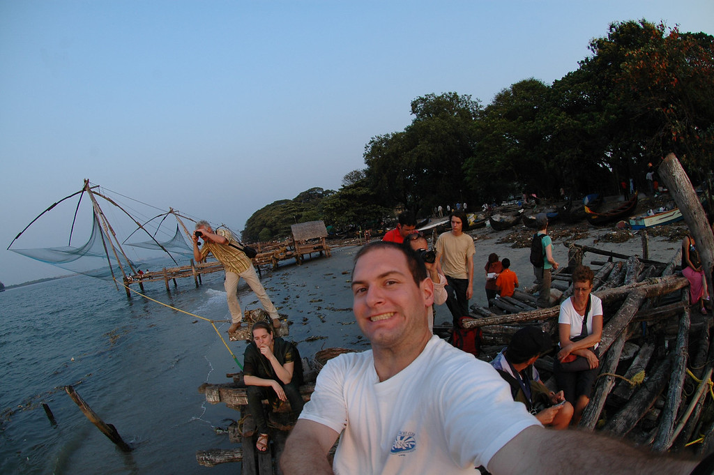 Jon Deutsch and all the other photographers taking pictures of the sunset in Fort Cochin