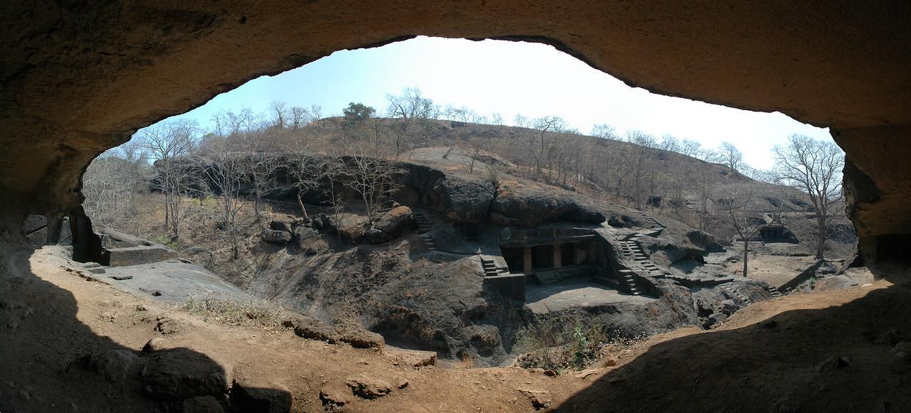 Kanheri Caves - 7 Photo panoramic
