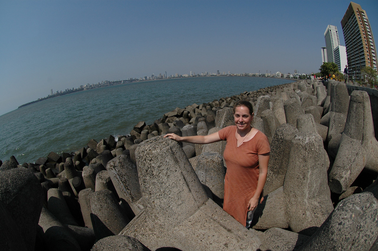 Cheryl at the end of Marine Drive