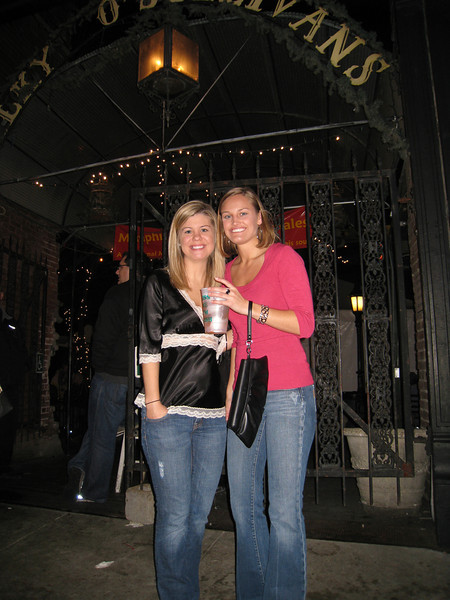 Jennifer and Stephanie in front of Silky O'Sullivan's