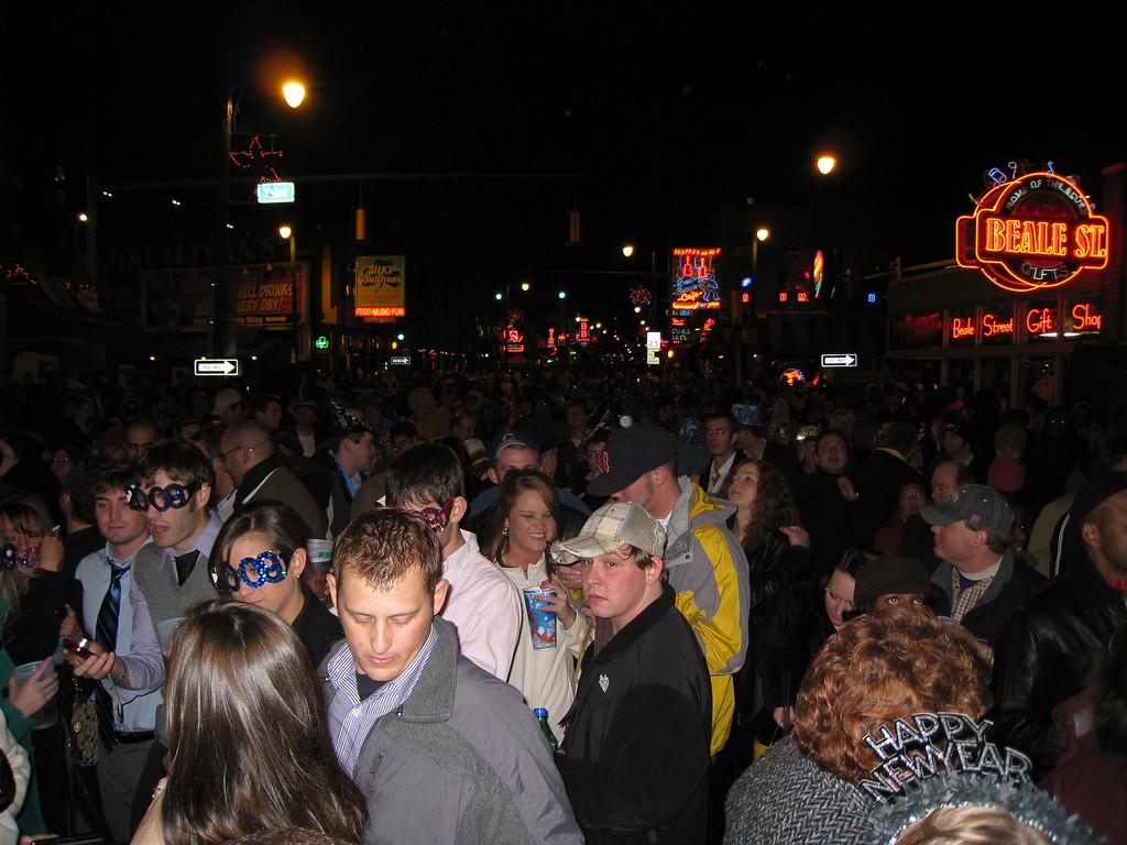 Beale Street at midnight