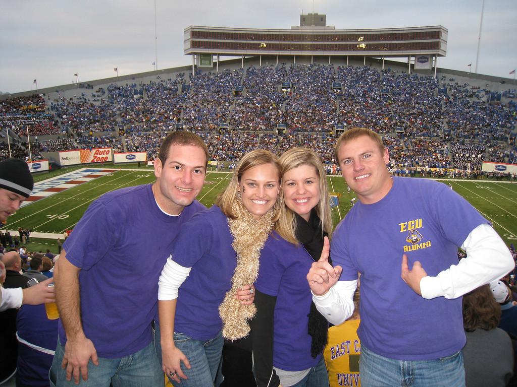 Jon, Stephanie, Jennifer and JG at the Liberty Bowl