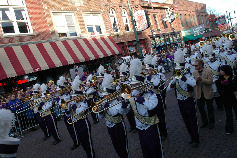 ECU Marching Band in the Liberty Bowl Parade