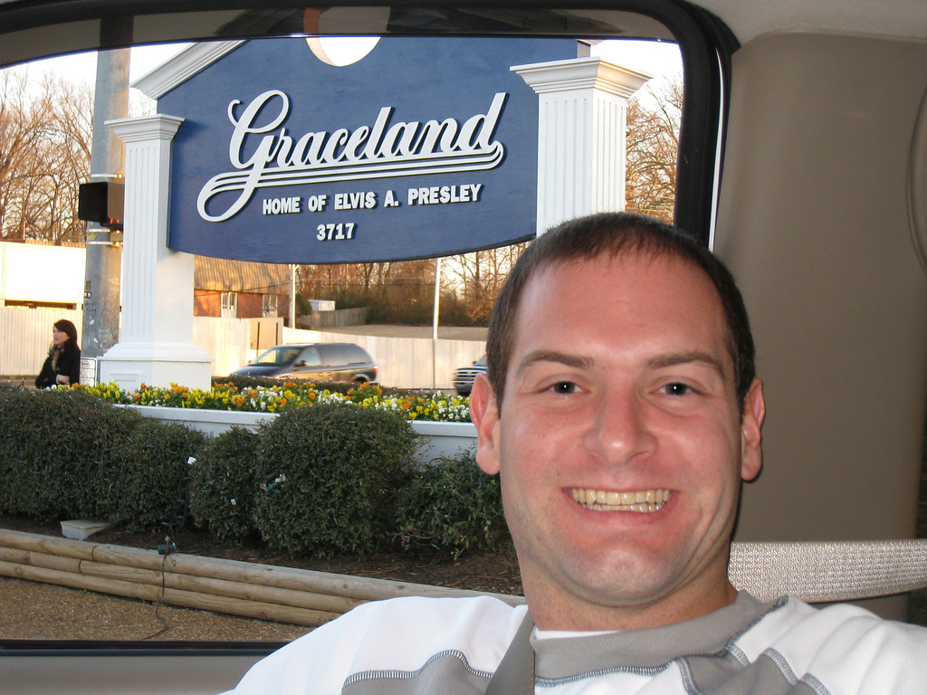 Jon outside of Graceland