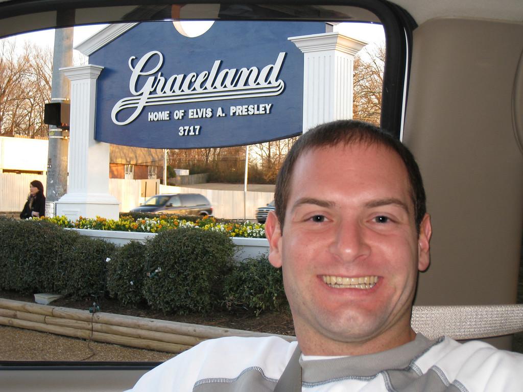 Jon outside of Graceland
