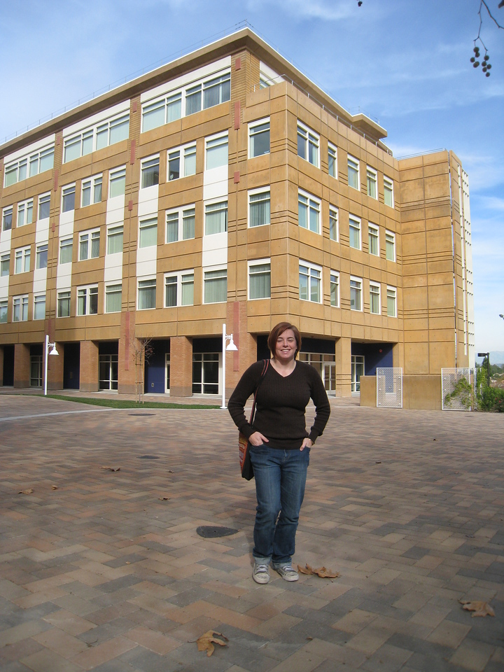 Cheryl on the UC-Irvine campus